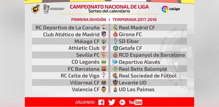 Calendario Liga Segunda.Rfaf Configurados Los Calendarios De Primera Division