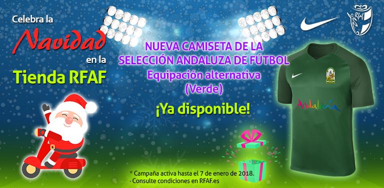 La Tienda Oficial de la Real Federación Andaluza de Fútbol ya ha puesto a  la venta la camiseta de la segunda equipación de las Selecciones Andaluzas. 68b0b5dc79793