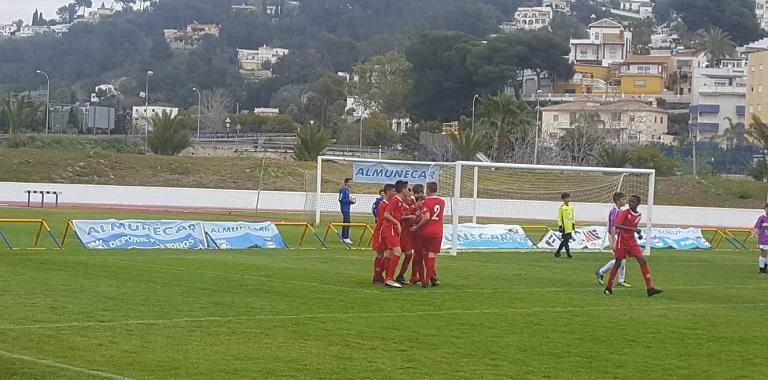 Los malagueños gana 0-5 a Huelva y los cordobeses pierden su primer partido  frente a la selección de Cádiz ... 5da258d8af401